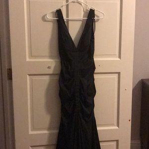 Black mermaid evening gown